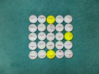 25 x PINNACLE Golf Balls - Mixed Types in Good, playable condition.