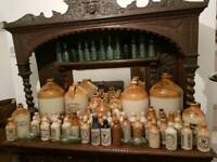 Stoneware Wanted local bottles and flagons