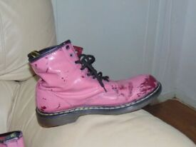 Dr martens boots Air Wair safety boots size 10 pink/ cherry red