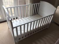 Henley cotbed white with foam mattress