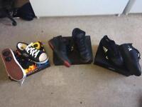 Heelys, Jordan Fly's, Adidas Football Techfit X's