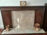 Fire surround and mantle piece for electric fire