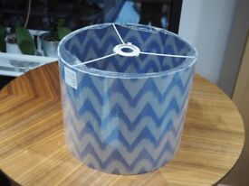 Large Lilac Fabric Lampshade