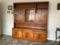 Large Regency-Style Sideboard & Display/Drinks Cabinet (1970s) - Great Condition