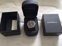 Armani Unisex Watch - Blue & Gold