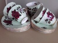 Lovely Vintage Bone China Tea Set by Colclough 18 Pieces Perfect