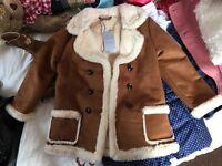 Brand new kids suede coat