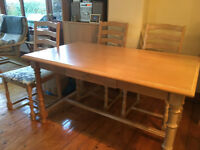 Limed oak kitchen/dining table
