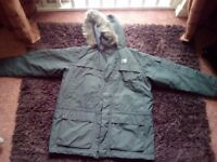 Karrimor Parker style green winter jacket, NEW, never worn size XL