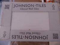 Perfect Glazed white Johnson tiles in an unopened box - SALE