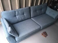DFS French Connection Zinc 4 seater sofa in Teal fabric