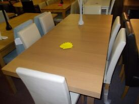 New wickham extending dining table +6 cream midback chairs