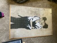 Banksy kissing coppers large poster size £3 Available !