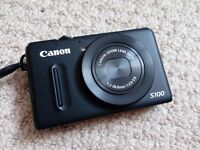 Digital Camera Canon PowerShot S100 (lens not working) with bag