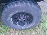 """Mudstar 265 75 16 31"""" two wheels Hilux l200 frontera and other 6x139.7"""