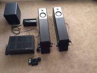 Home cinema surround sound. ONKYO AV Receiver TX-SR608, Cambridge Audio sub, Mordaunt-Short speakers