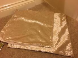 3 champagne gold crushed velvet cushion covers