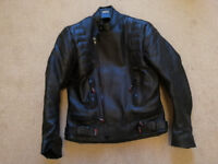 Leather jacket for scootering, size M