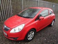 VAUXHALL CORSA 1.2 ACTIVE RED 2009 3 DOOR 52,000 MILES M.O.T 12 MONTHS FULL SERVICE HISTORY
