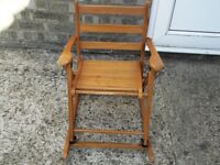 Small childs rocking chair in good condition