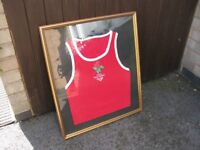 Framed ABA Young England Boxing Vest