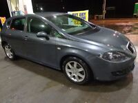 2006 top spec seat leon 1.9 tdi diesel 5 door with long mot+tax+service history and FREE DELIVERY
