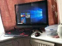 """Super fast intel i3 ALL-IN-ONE Desktop PC The MEDION AKOYA P2004 super wide 23.6"""" 1TB HDD gaming M-K"""
