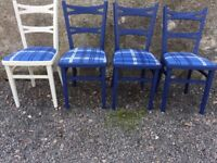 4 upcycled shabby chic chairs kitchen dinning