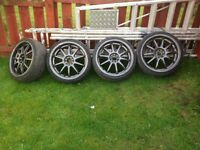 "18"" alloys with low profile tyres"