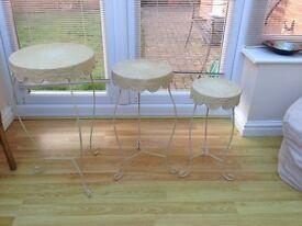 Set of 3 vintage end tables