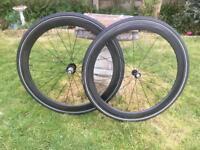 Planet X 50mm Tubular Carbon wheelset