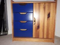 Pine cupboard/drawers
