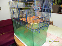 3 gerbil/hamster cages