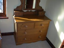 Hand made Dressing table with large mirror,