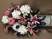Two flower arrangements used for wedding
