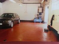 VERY SECURE AND ALARMED 6 CAR WORKSHOP WITH 4 POST RAMP AND COMPRESSOR
