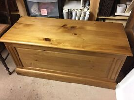 Solid pine chest for toys, blankets etc