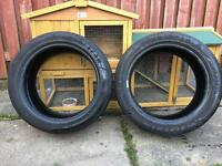 235/45/17 GOODYEAR EGALE F1 tyres, both with 6.5mm tread.