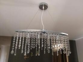 Large glass crystal pendant chandelier
