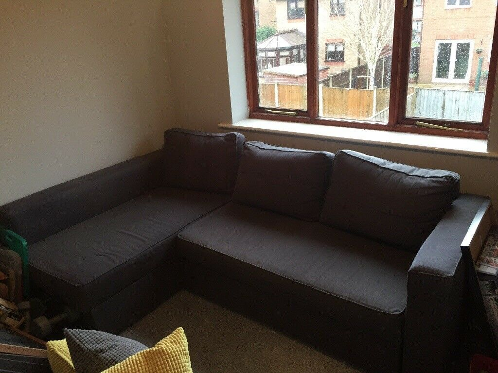 Ikea Manstad Corner Sofa Bed Second Hand Good Condition Additional Storage Creates