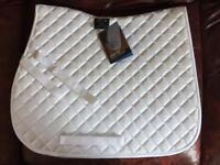 Shires White Pony Size Quilted Saddle Cloth BN