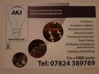 Fully Qualified Electrician and Site Manager.