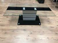 Luxury black glass coffee table *BRAND NEW*