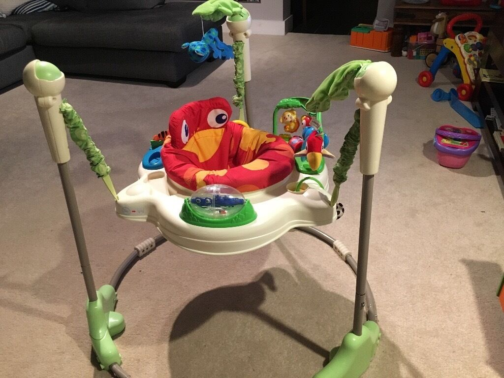 b53350fef435 Fisher Price jungle jumperoo baby bouncer