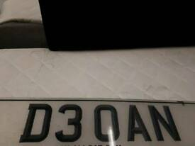 Private number plate D3 OAN