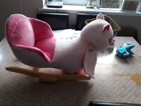 Rocking owl ride on in excellent condition smoke free home
