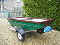 Fishing Punt with Trailer