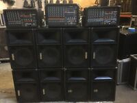 Small event or party speaker systems