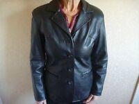 Ladies Tailored Black Leather Jacket