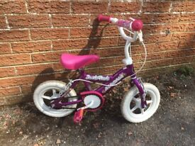 little girls pink bike